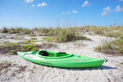 Kayaks on Palm Island