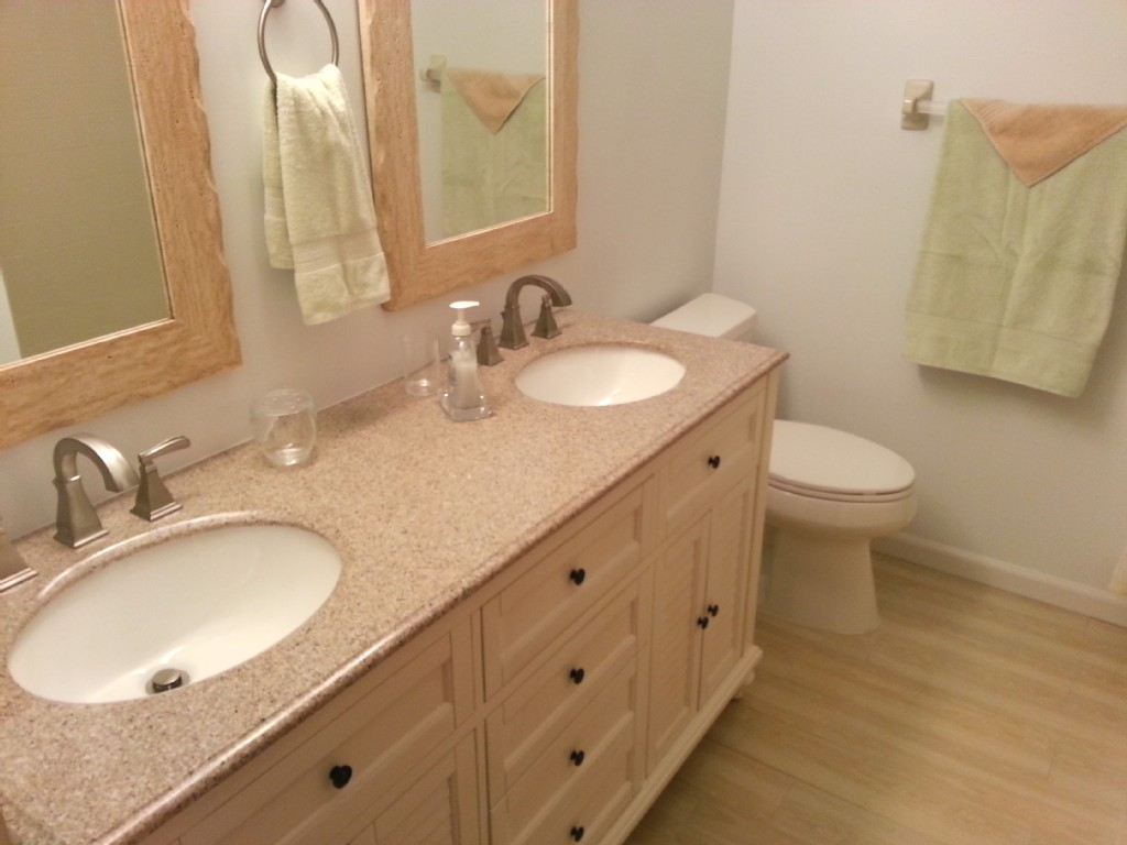New bathrooms with granite vanity