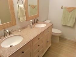 New bathrooms with granite vanity