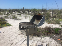 Stainless steel park grill