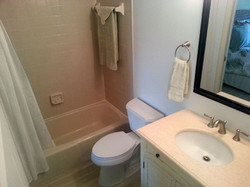 Guest bath is fully renovated