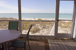 Gulf view from the screened porch