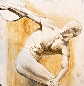 Discus Thrower Fresco painting by James Postill