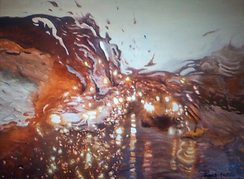 Liquid Gold oil painting by James Postill, fresco artist, oil painter and art classes instructor