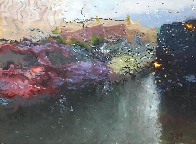 Painting 'Study for Rhapsody in Rain'