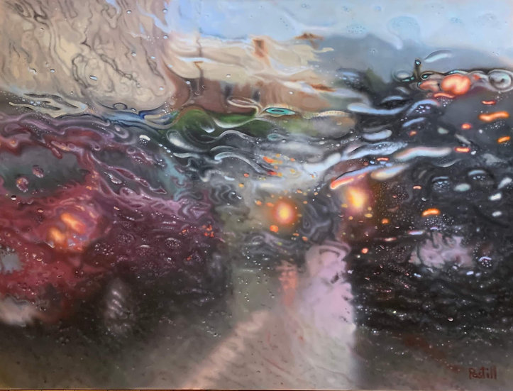 Painting 'Rhapsody in rain'