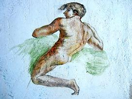 Fresco study Michelangelo by James Postill