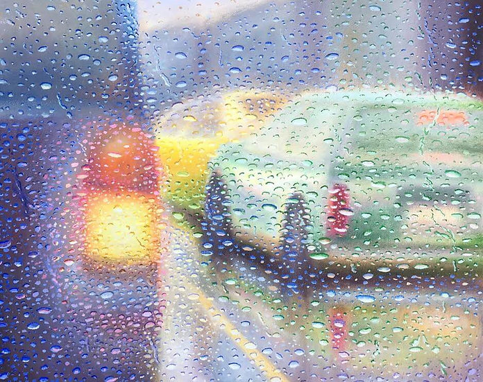 Painting 'Colour in Rain'