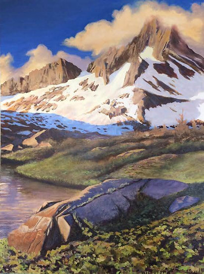 Painting 'Late Afternoon in the Sierras'