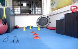 Sala de treinamento ao ar livre