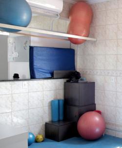 Sala p/ exerc. de solo/alongamento