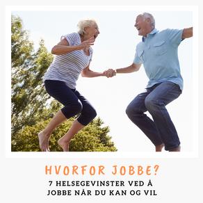 7 helsegevinster seniorer får ved å jobbe
