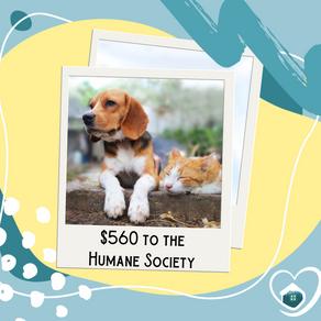 $560 Donated!