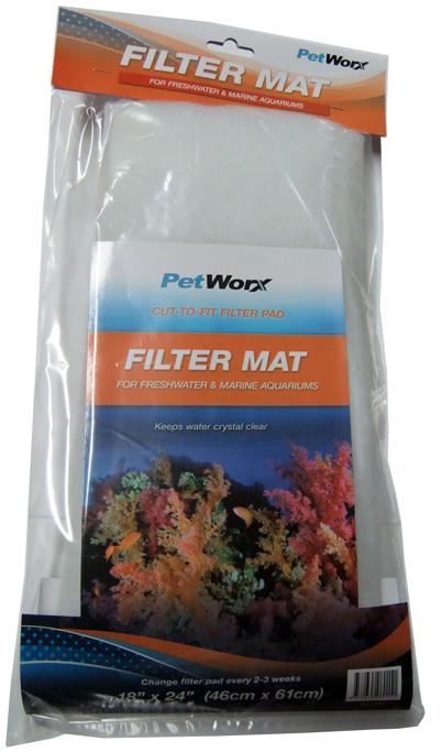Pet Worx Filter Mat 18 x 24 inch | Fishy Biz | Aquarium Filters And Accessories | Fish Tank | Online Aquarium Supplies