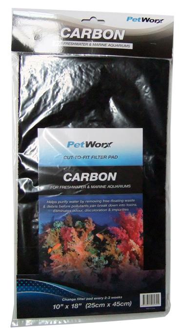 Pet Worx Carbon Pet Worx Filter Pad Water Purifier 10 x 18 inch | Fishy Biz | Aquarium Accessories | Fish Tank Filters