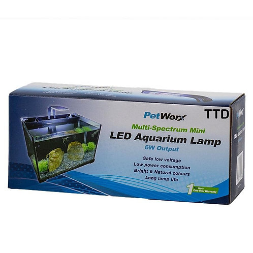 Pet Worx Mini Led Multi Spectrum Lamp 6W | Fishy Biz | Aquarium Lighting | Aquarium Accessories | Fish Tank | Aquarium Centre