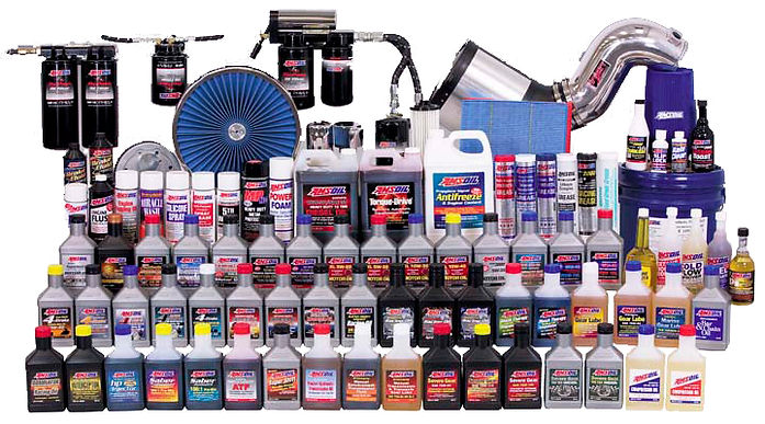 AMSOIL Synthetic Lubricants product display in Southern California