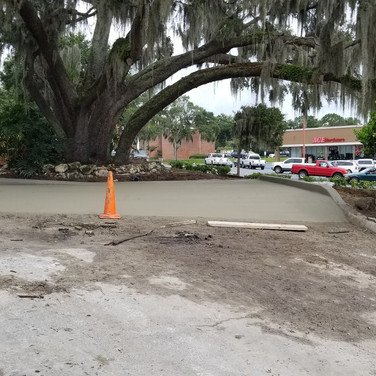 Burger King - Parking Lot Pour