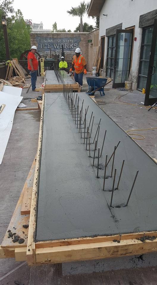 Disney Springs - Concrete Benches - Prep2