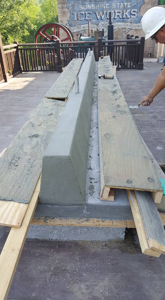 Disney Springs - Concrete Benches - Finish