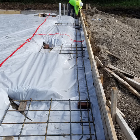 Agricultural building foundation - Prep/During