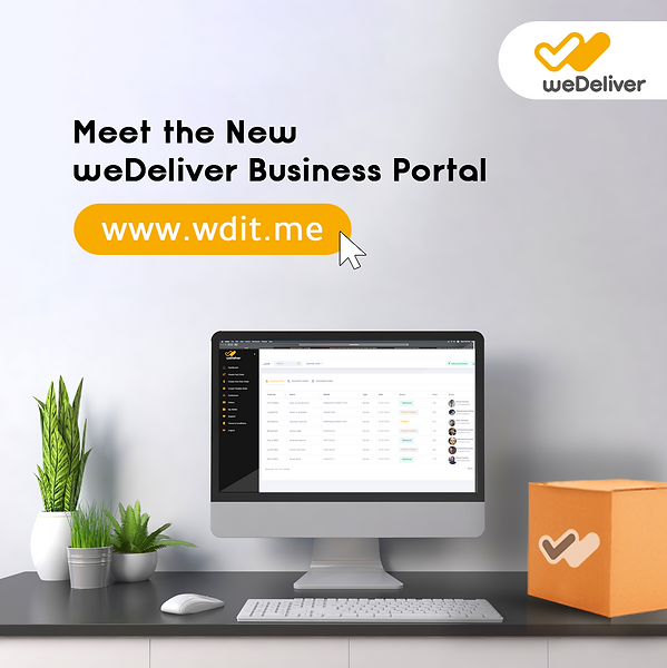 wedeliver business portal to create delivery orders and last mile logistics