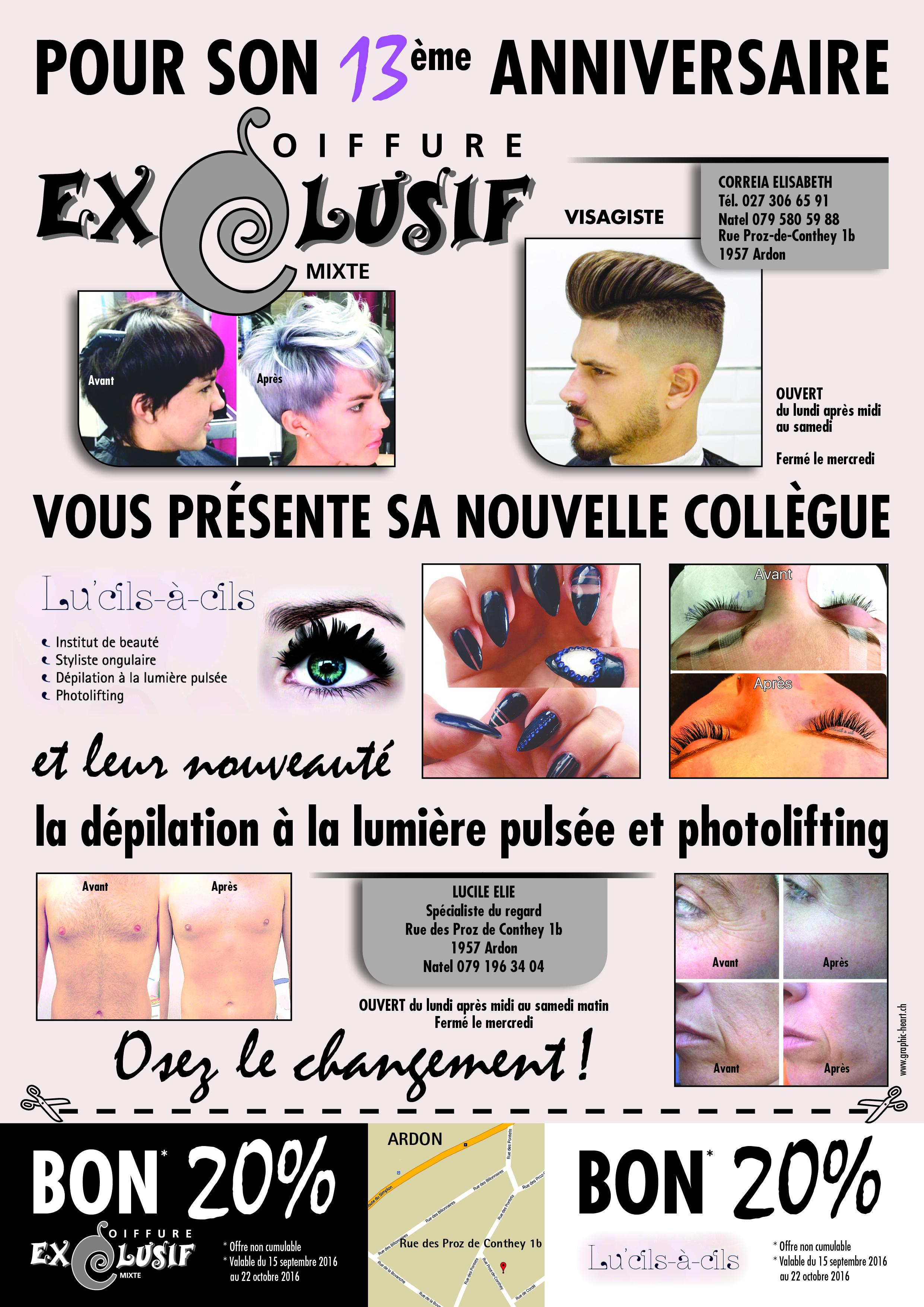 Exclusif Coiffure et Lu'cils-à-Cils