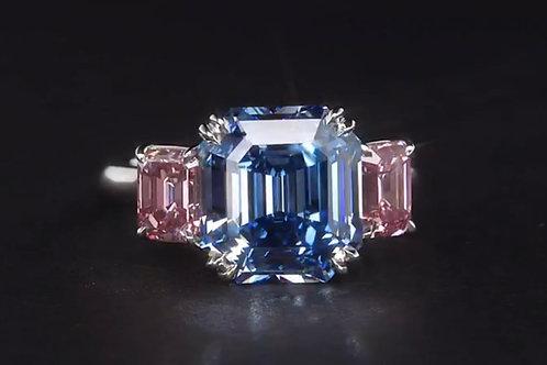 An extremely rare blue diamond