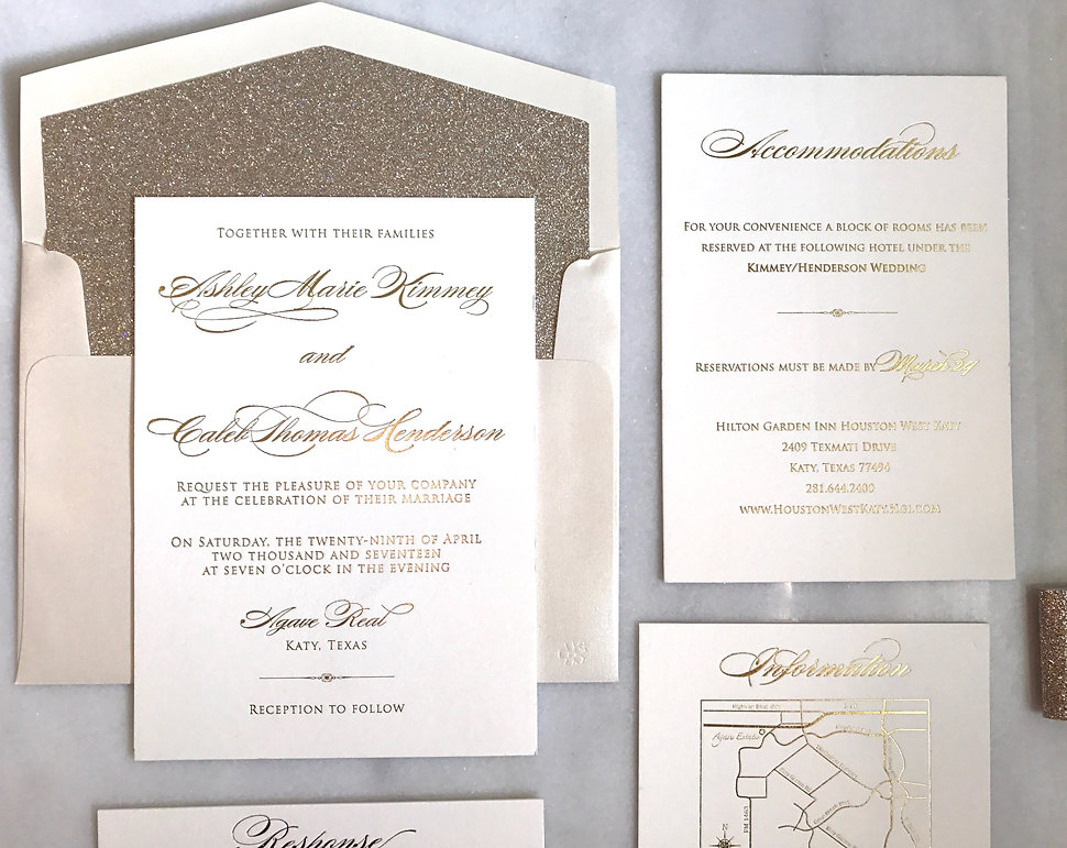 Bella Dia Stationery Houston Wedding Invitations