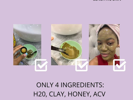 diy indian healing clay FACIAL mask (sensitive skin friendly)