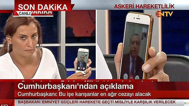 Pres.Erdogan on Facetime with Reporter