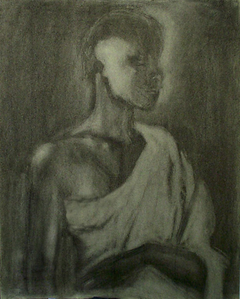 Untitled - Charcoal on paper