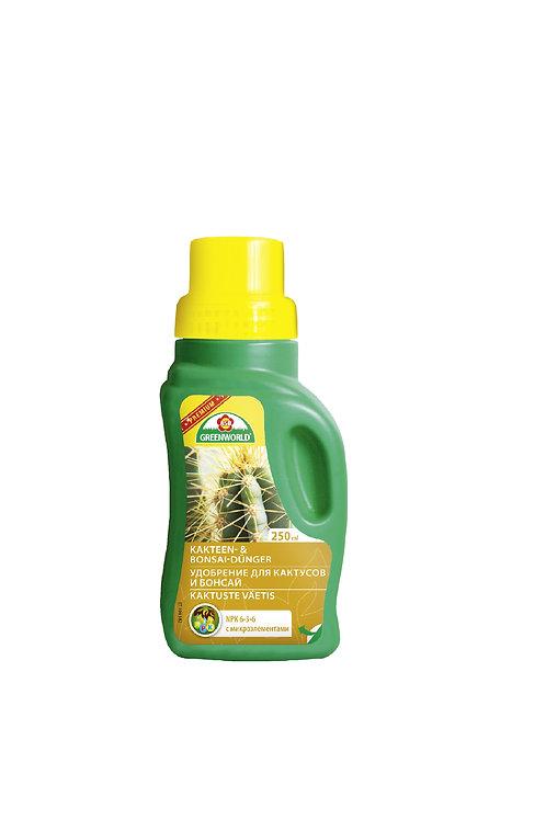 Удобрение для кактусов и бонсай с м/э, 250 мл