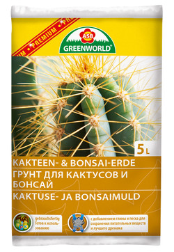 Грунт для кактусов и бонсай 5л