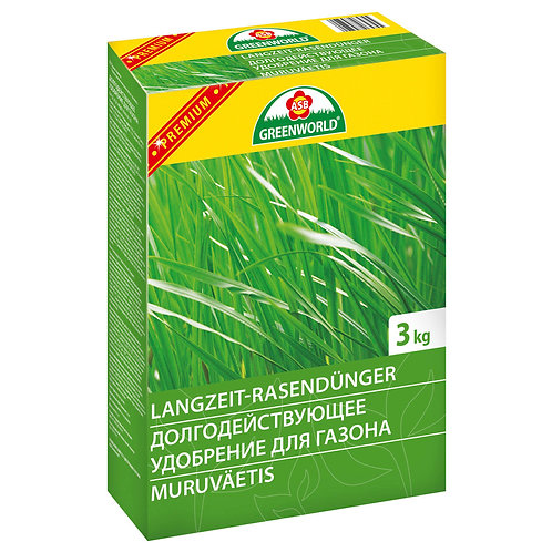 Удобрение долгодействующее для газона с магнием и железом 3 кг