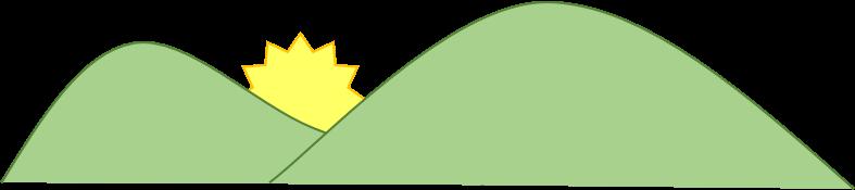 """Logomarca do Manual da Chácara. """"Por do sol entre duas colinas""""."""
