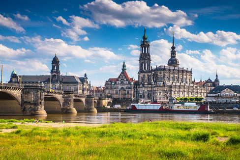 The ancient city of Dresden, Germany. Hi