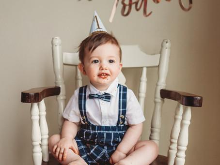 How time flies ! First birthday cake smash , Cavan