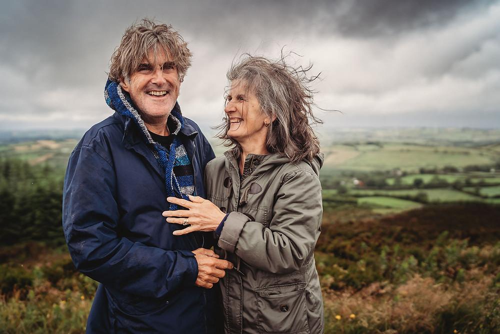 Couples photoshoot rainy weather cavan