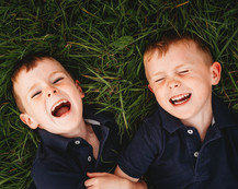 twins laughing