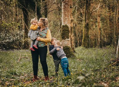 Beautiful family, bluebells , Co Cavan