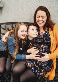 Maternity photoshoot Mam and kids and bump