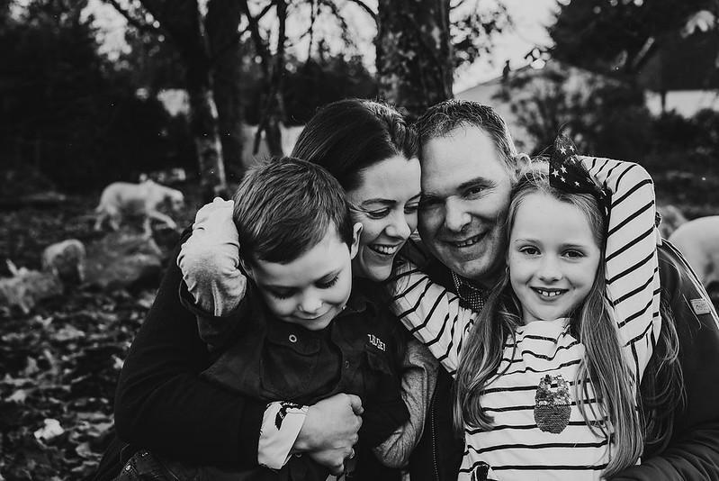 family photoshoot meath black and white autumn