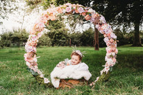 newborn photoshoot outdoors