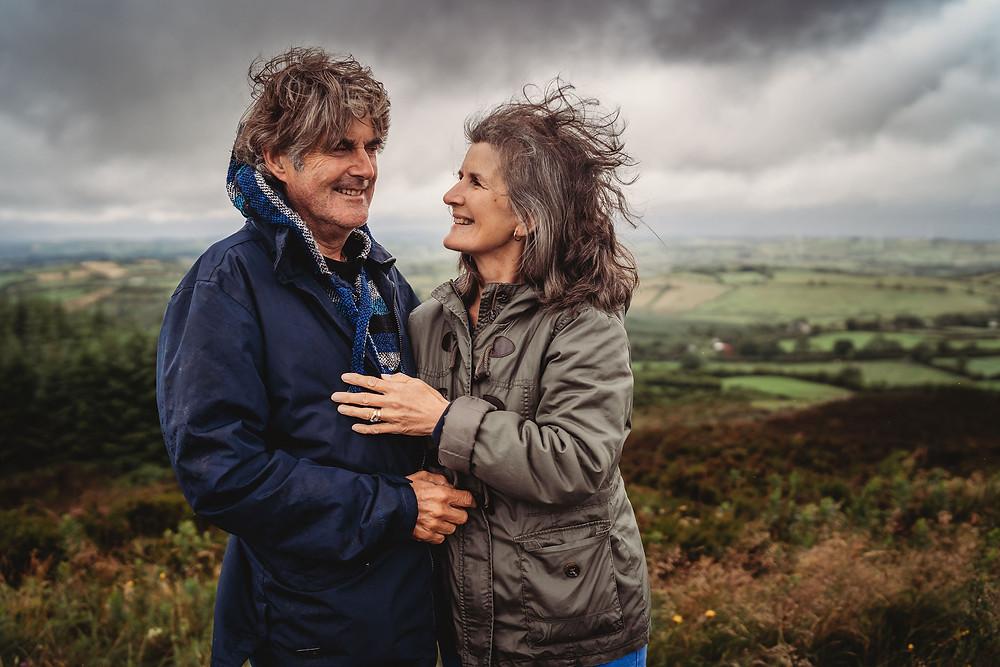 Couples photo session rainy day cavan