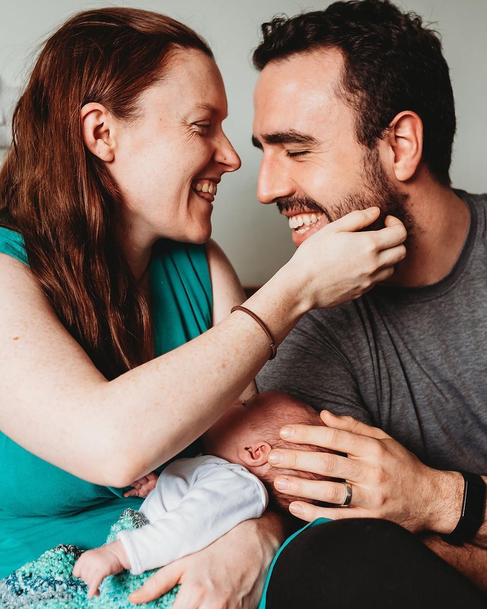 parents and newborn photo