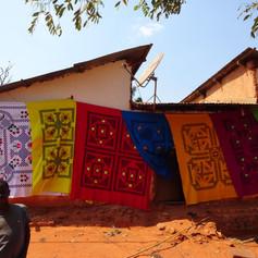 Sábanas bordadas a mano, tradicionales y originarias de la región de Kigoma, Tanzania