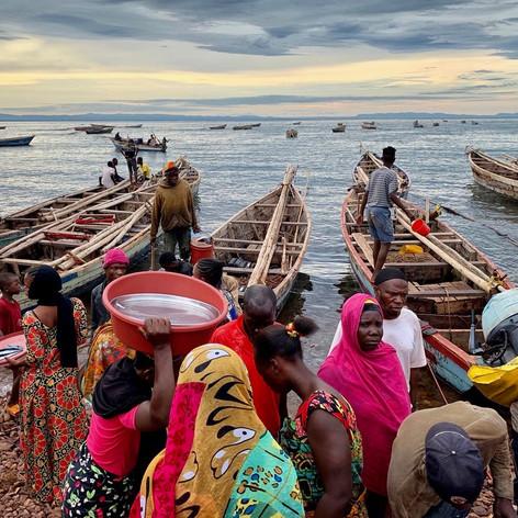 Puerto pesquero de Katonga en Kigoma, Tanzania