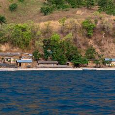 Pueblo de pescadores en la orilla del lago Tanganica, región de Kigoma, Tanzania