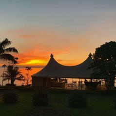 Puesta de sol desde el Tanganyika Hotel de Kigoma, Tanzania